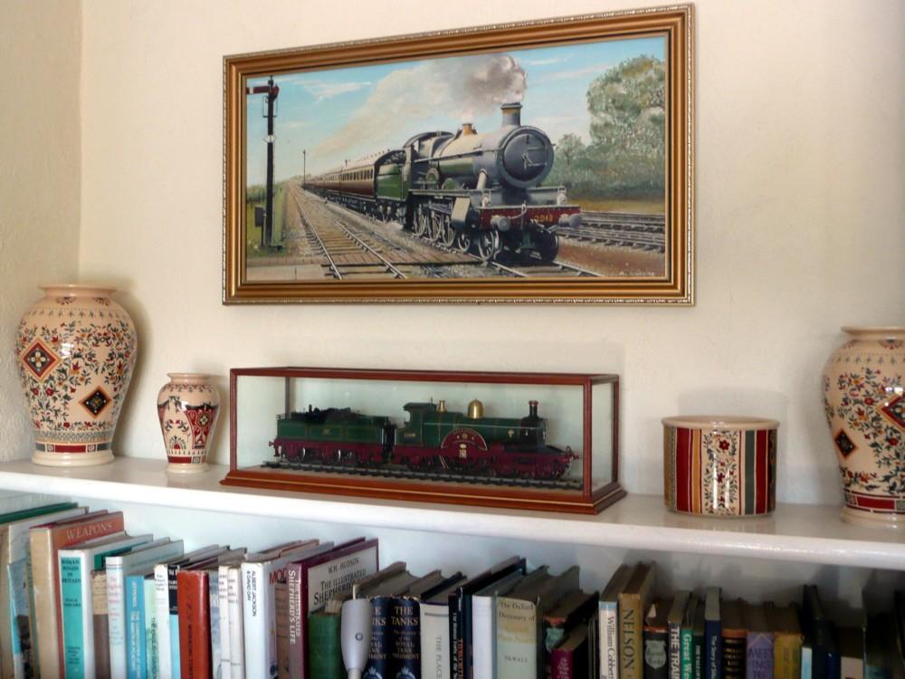 Train behind Glass