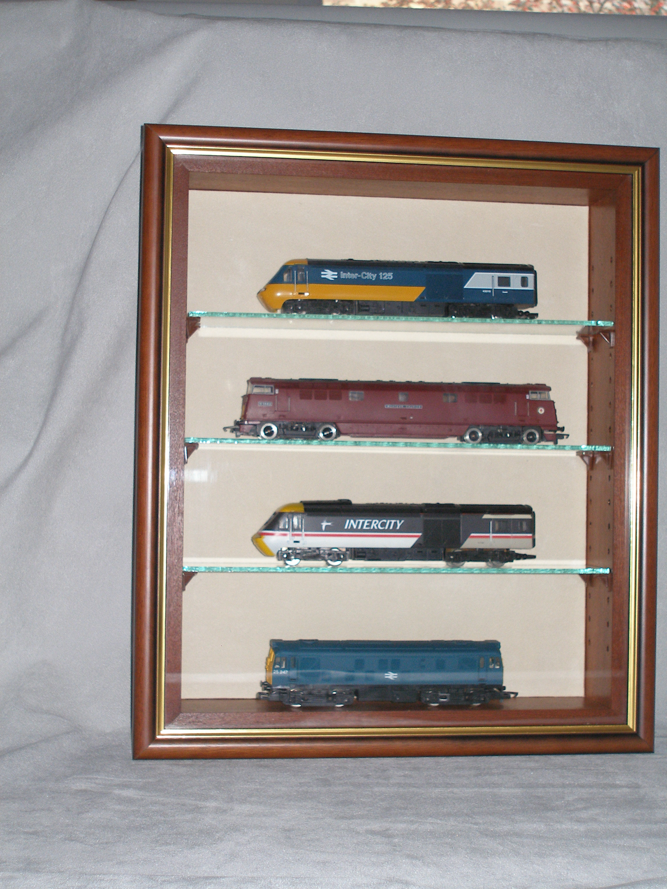 Trains in Picture Box Display Case
