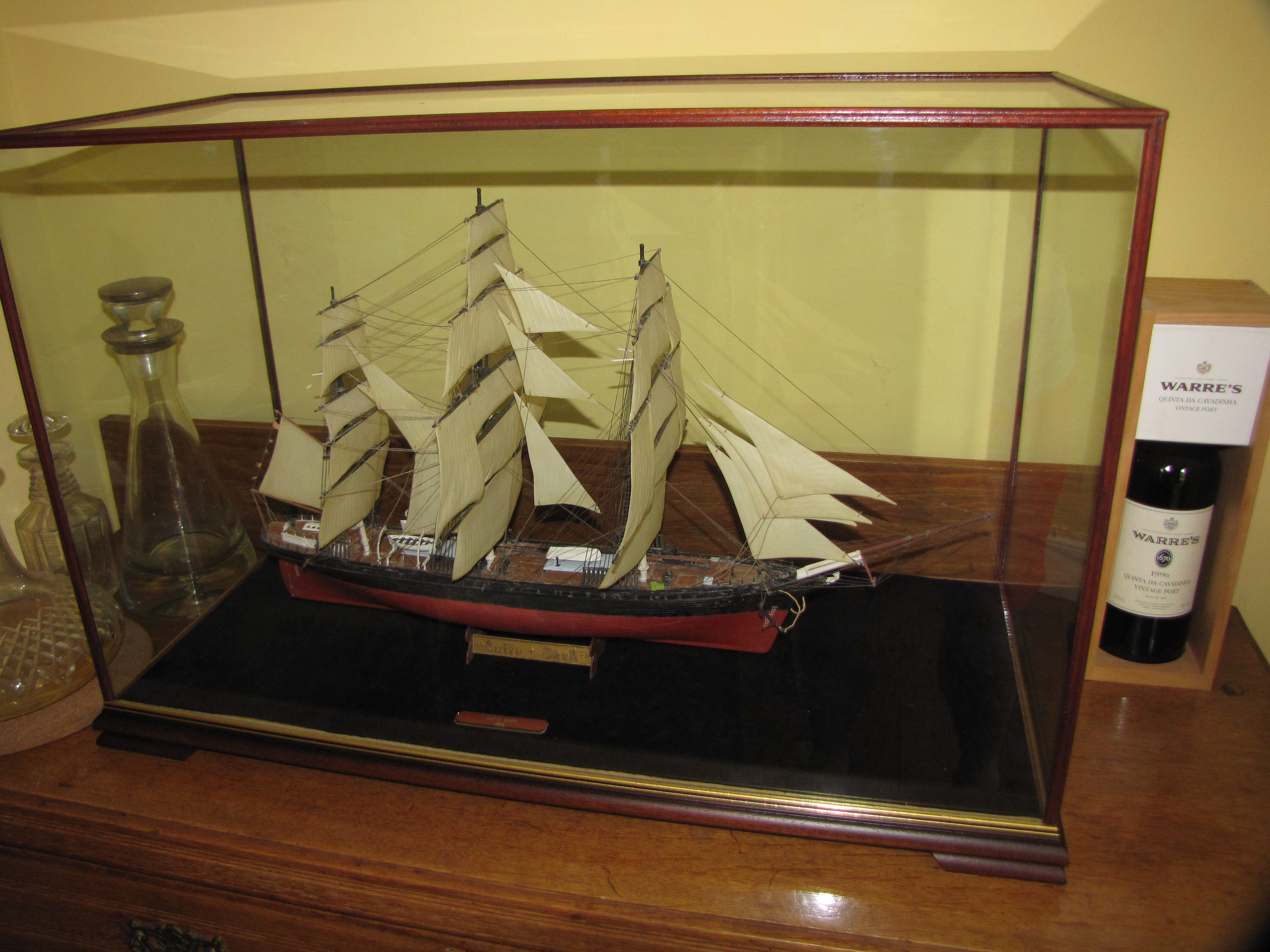 Belmont Display Case with Ship