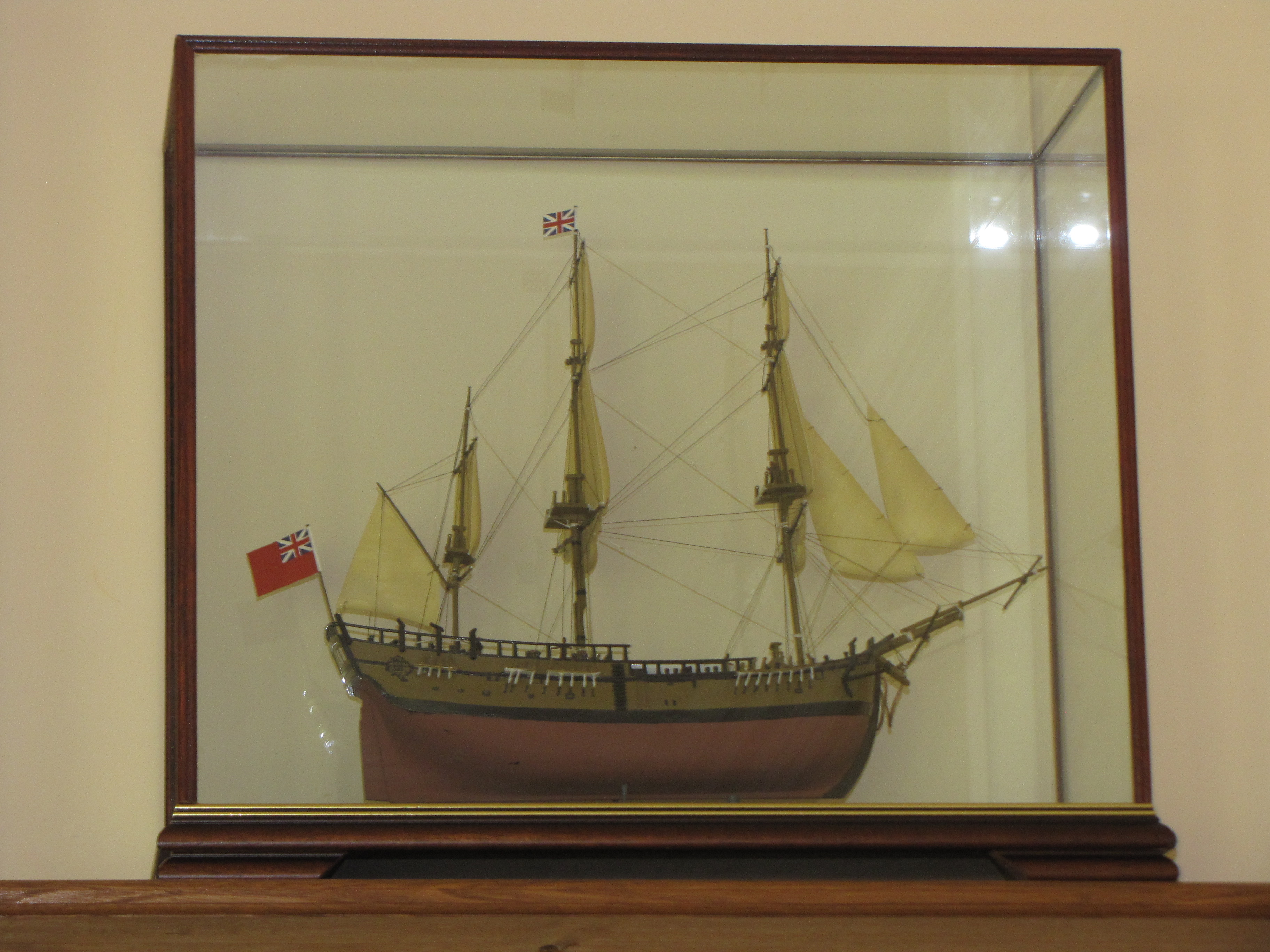 Ship in Belmont Glass Case