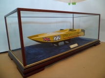 Boat in display case