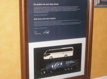 Bespoke framed certificate