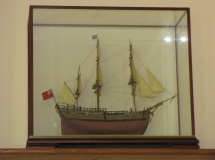 Ship in Belmont Glass Case