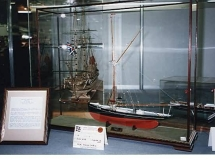 A sailing ship model in a DSC Display Case