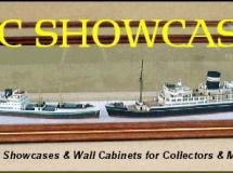 Ship Models in a DSC Display Case