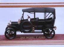 Model T Ford in Five Sided Glass Showcase