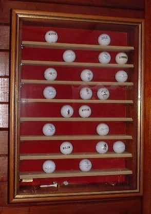 Golf Picture Box Display Case