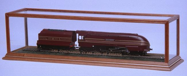 A Model Train in a DSC Display Case