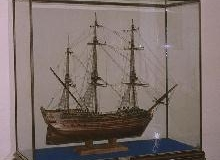 Ship displayed in Glass Case