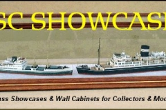 Ship Models in a DSC Display Case