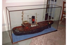 A model of a boat in a DSC Display Case