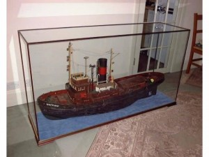 Boat model in DSC Display Case