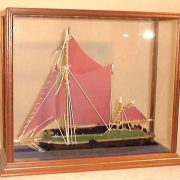 Boat in Radcliffe light oak display case
